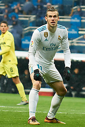 La Liga match between Real Madrid and Villareal CF at Santiago Bernabeu on January 13, 2018 in Madrid. 13 Jan 2018 Pictured: Gareth Bale (midfielder; Real Madrid). Photo credit: MEGA TheMegaAgency.com +1 888 505 6342