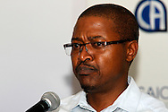 DURBAN - 19 April 2016 - Simiso Magagula, the Head of Department of the KwaZulu-Natal provincial treasury speaks at the launch of a training programme to have accountants do their article in the KwaZulu-Natal provincial treasury. Picture: Allied Picture Press/APP