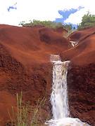 View over Red Dirt Waterfall near Waimea Canyon, Kauai, Hawai'i, USA.