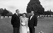 Mayor and Mrs J. Daley of Chicago at Áras an Uachtaráin with President Eamon de Valera.<br /> 16.05.1964