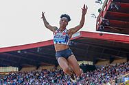 Abigail Irozuru (Great Britain), Women's Long Jump, during the Muller Grand Prix at the Alexander Stadium, Birmingham, United Kingdom on 18 August 2019.