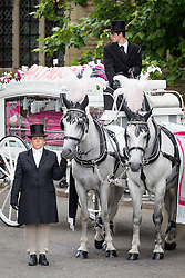 © Licensed to London News Pictures . 09/08/2013 . Salford , UK . The horse drawn cortege leaves the church . The funeral of Linzi Ashton at St Paul's C of E Church in Salford , today (9th August 2013) . Linzi Ashton (25) was found murdered in her home on Westbourne Road in Salford on 29th June . Michael Cope is standing trial, accused of murdering, raping and assaulting her . Photo credit : Joel Goodman/LNP