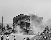 9119-2368-B18-5. Ahavai Achim Synagoge being demolished August 23, 1962