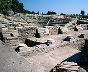 Archaeological site of the ancient city of Troy, Turkey 1997 amphitheatre