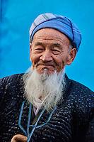 Ouzbékistan, province de Kachkadaria, environs de Chakhrisabz, vieil homme ouzbek // Uzbekistan, Kachka Daria region, near Chakhrisabz, old Uzbek man