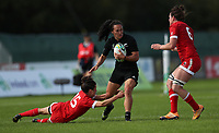 Rugby Union - 2017 Women's Rugby World Cup (WRWC) - Pool A: Canada vs. New Zealand<br /> <br /> Portia Woodman of New Zealand and Elissa Alarie of Canada at Billings Park UCD, Dublin.<br /> <br /> COLORSPORT/LYNNE CAMERON