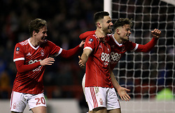 """during the Emirates FA Cup, Third Round match at the City Ground, Nottingham. PRESS ASSOCIATION Photo. Picture date: Sunday January 7, 2018. See PA story SOCCER Forest. Photo credit should read: Mike Egerton/PA Wire. RESTRICTIONS: EDITORIAL USE ONLY No use with unauthorised audio, video, data, fixture lists, club/league logos or """"live"""" services. Online in-match use limited to 75 images, no video emulation. No use in betting, games or single club/league/player publications"""