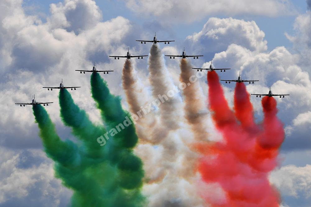 Air show before the 2019 Italian Grand Prix in Monza. Photo: Grand Prix Photo