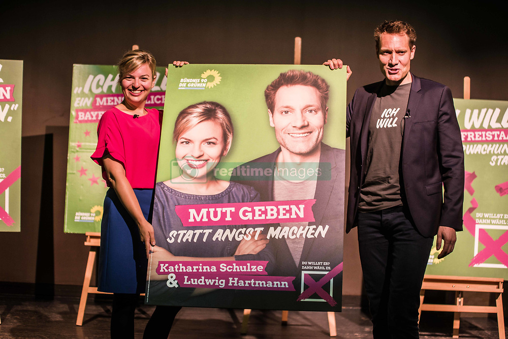 July 6, 2018 - Munich, Bavaria, Germany - The Spitzenduo (top duo) of Katharina Schulze and Ludwig Hartmann of the Bavarian Green Party unveiled the course of their campaign for the 2018 Landtag elections which will take place in September...The focus of the majority of the parties is to unseat enough CSU politicians to eliminate its absolute majority, which has been criticized as eliminating democracy in the Landtag.  The CSU has been at the center of a controversy recently surrounding its head Horst Seehofer, who has issued ultimatums to Chancellor Merkel. (Credit Image: © Sachelle Babbar via ZUMA Wire)