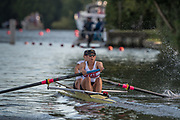Henley-on-Thames. United Kingdom.  <br /> Women's Pair. USA W2-. Bow. Megan KALMOE and Tracy EISSER.  2017 Henley Royal Regatta, Henley Reach, River Thames. <br /> <br /> 18:50:22  Saturday  01/07/2017   <br /> <br /> [Mandatory Credit. Peter SPURRIER/Intersport Images.
