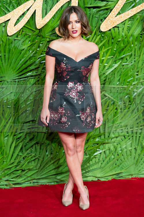 © Licensed to London News Pictures. 04/12/2017. London, UK. CAROLINE FLACK arrives for The Fashion Awards 2017 held at the Royal Albert Hall. Photo credit: Ray Tang/LNP