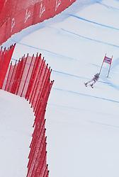 19.01.2011, Tofana, Cortina d Ampezzo, ITA, FIS World Cup Ski Alpin, Lady, Cortina, Abfahrt 1. Training, im Bild Blick von den Tribühnen im Bild Margret Altacher (AUT, #47) // Margret Altacher (AUT) during FIS Ski Worldcup ladies downhill first training at pista Tofana in Cortina d Ampezzo, Italy on 19/1/2011. EXPA Pictures © 2011, PhotoCredit: EXPA/ J. Groder