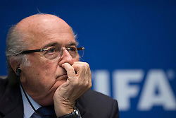 21.03.2014, Home of FIFA, Zuerich, SUI, FIFA, Pressekonferenz des Exekutivkomitee, im Bild FIFA Praesident Joseph Sepp Blatter // during a press conference of the FIFA Executive Committee at the Home of FIFA in Zuerich, Switzerland on 2014/03/21. EXPA Pictures © 2014, PhotoCredit: EXPA/ Freshfocus/ Andreas Meier<br /> <br /> *****ATTENTION - for AUT, SLO, CRO, SRB, BIH, MAZ only*****