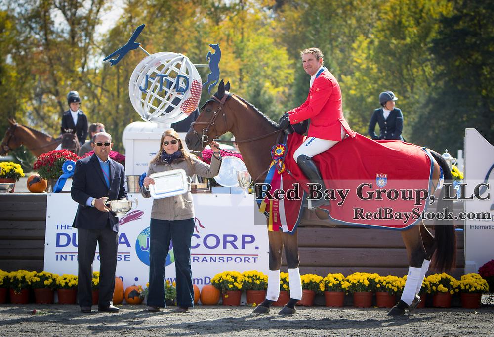 Tim Dutta and Joanie Morris with Phillip Dutton (USA) riding Z at The Dutta Corp Fair Hill International Horse Trials in Elkton, Maryland.