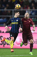 Roberto Gagliardini, Radja Nainggolan <br /> Milano 26-02-2017 Football Calcio serie A 2016/2017 Inter - AS Roma foto Image Sport/Insidefoto