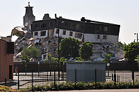 170 and 200 Sandiefield Road, which have been in Glasgow southside since the 1960s, were destroyed by controlled explosion.