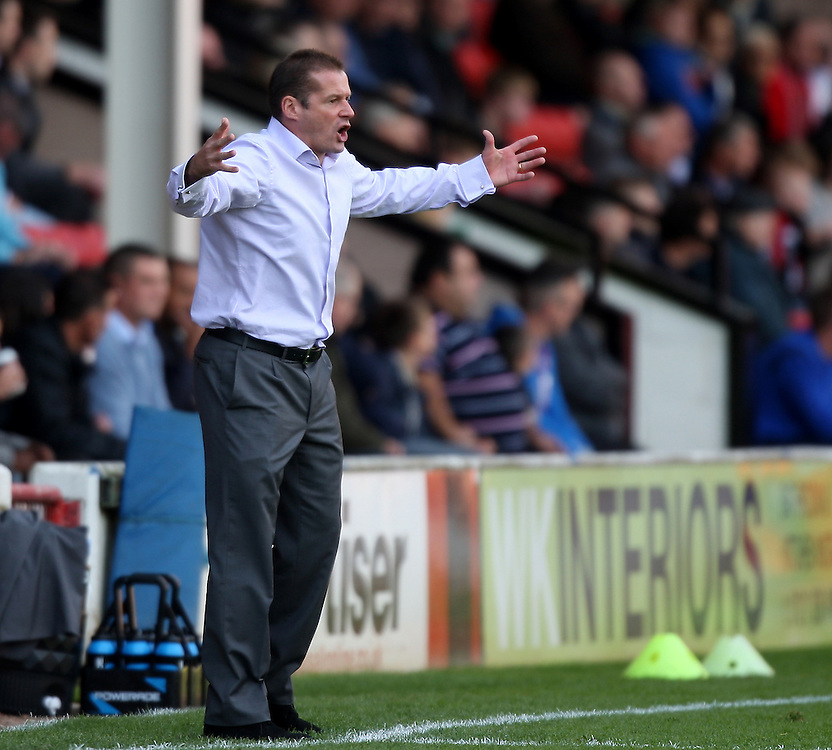 Preston North End's manager Graham Westley..Football - npower Football League Division One - Walsall v Preston North End - Saturday 22nd September 2012 - Banks's Stadium - Walsall..