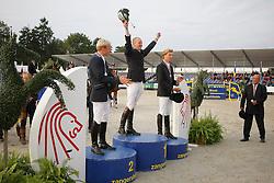 1 Greeve Michael<br /> 2 Greve Willem<br /> 3 Morsink Gerben<br /> World Championship Young Horses Lanaken 2008<br /> Photo Copyright Hippo Foto