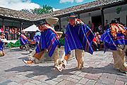 ECUADOR, HIGHLANDS Hacienda Chorlavi folk dancers