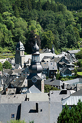 View of historic village of Monschau in Eifel Region of Germany