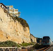 Amtrak Train in Route Through South San Clemente
