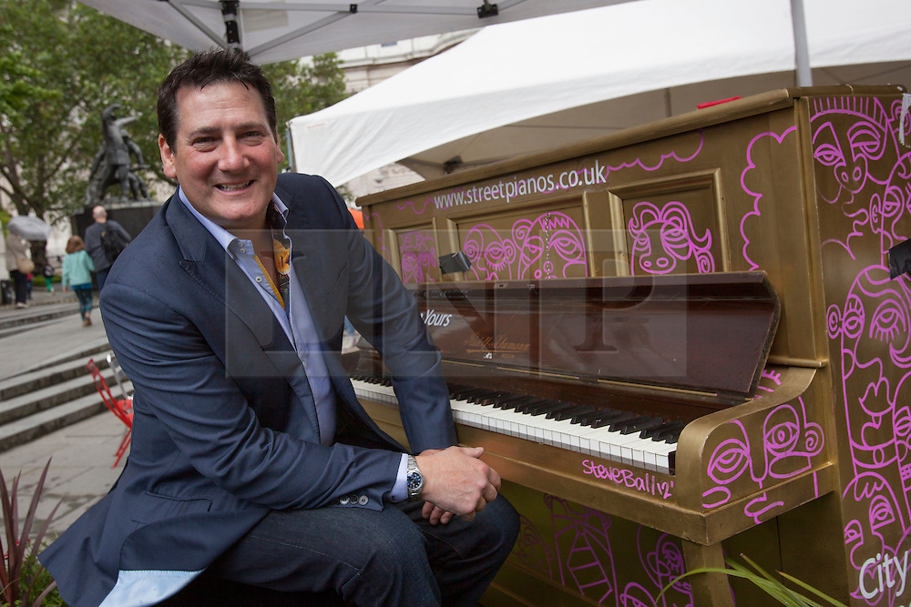 © licensed to London News Pictures. London, UK 24/06/2012. Spandau Ballet's Tony Hadley posing next to a piano after his concert with National Youth Jazz Orchestra to mark the opening of the City of London Festival's Golden Jubilee. Photo credit: Tolga Akmen/LNP