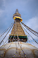 Boudhanath Stupa in Kathmandu is one of the largest in the world.