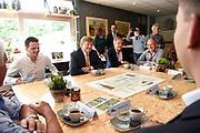 Koning Willem Alexander brengt  in Hilvarenbeek een werkbezoek aan een aantal initiatieven die vanuit de samenleving zijn gestart. De initiatieven dragen bij aan de leefbaarheid en toekomstbestendigheid van de dorpen die deel uitmaken van de gemeente Hilvarenbeek.<br /> <br /> King Willem Alexander is in Hilvarenbeek a working visit to a number of initiatives that have started from society. The initiatives contribute to the liveability and future-proofing of the villages that are part of the municipality of Hilvarenbeek.<br /> <br /> Op de foto:  De koning bezoekt een pomphuis aan het Wilhelminakanaal in Haghorst /// The king visits a pump house on the Wilhelminan canal in Haghorst