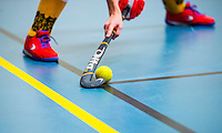BARNEVELD - Hoofdklasse zaalhockey dames.  Stockphoto zaalhockey.    COPYRIGHT KOEN SUYK