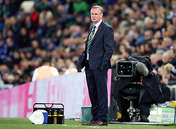Northern Ireland manager Michael O'Neill during the 2018 FIFA World Cup Qualifying, Group C match at Windsor Park, Belfast.