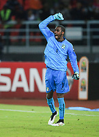 Fotball<br /> Afrika Cup / Afrikamesterskapet<br /> 08.02.2015<br /> Elfenbenskysten v Ghana <br /> Finale<br /> Foto: imago/Digitalsport<br /> NORWAY ONLY<br /> <br /> Boubacar Barry, goalkeeper of Cote d Ivoire, reacts during the penalty kicks of the final match of Africa Cup of Nations between Ghana and Cote d Ivoire in Bata, Equatorial Guinea, Feb. 8, 2015. Cote d Ivoire defeated Ghana by 9-8 after the extra time and penalty kicks and claimed the title.