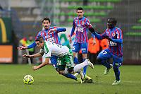 Romain HAMOUMA / Nicolas SEUBE / Ngolo KANTE - 01.02.2015 - Caen / Saint Etienne - 23eme journee de Ligue 1 -<br />Photo : Vincent Michel / Icon Sport