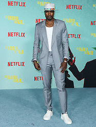 Professional basketball player Serge Ibaka arrives at the Los Angeles Premiere Of Netflix's 'The Harder They Fall' held at the Shrine Auditorium and Expo Hall on October 13, 2021 in Los Angeles, California, United States. Photo by Xavier Collin/Image Press Agency/ABACAPRESS.COM