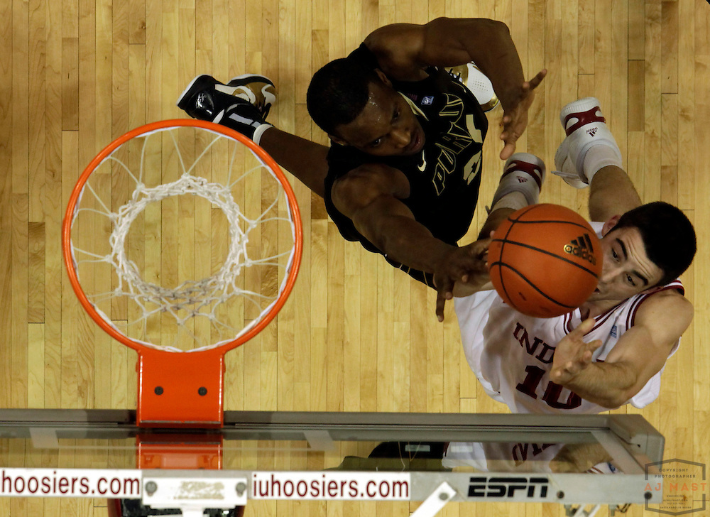 23 February 2011: Indiana guard/forward Will Sheehey (10) as the Indiana Hoosiers played the Purdue Boilermakers in a college basketball game in Bloomington, Ind.