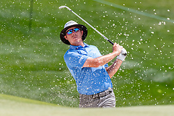 May 4, 2019 - Charlotte, NC, U.S. - CHARLOTTE, NC - MAY 04: Joel Dahmen hits from the sand on the 3td hole during the third round of the Wells Fargo Championship at Quail Hollow on May 4, 2019 in Charlotte, NC. (Photo by William Howard/Icon Sportswire) (Credit Image: © William Howard/Icon SMI via ZUMA Press)