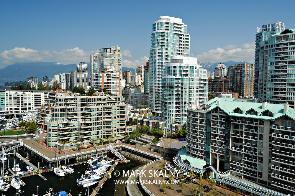 False Creek waterfront condominiums and marina, Vancouver British Columbia, Architectural Photography