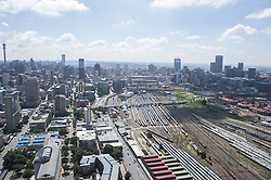 JOHANNESBURG, SOUTH AFRICA - NOVEMBER 20: An aerial view shows Nelson Mandela Bridge and around in Johannesburg, South Africa on November 20, 2016. Shiraaz Mohamed / Anadolu Agency    BRAA20161120_623 Johannesburg Afrique du Sud South Africa