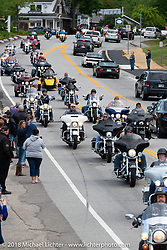 The Freedom Ride arrives in Hesky Park in Meredith for the POW/MIA vigil during Laconia Motorcycle Week. NH, USA. Thursday, June 14, 2018. Photography ©2018 Michael Lichter.