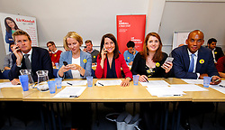 © Licensed to London News Pictures. 07/09/2015. London, UK. Labour Party leader candidate Liz Kendall and her supporters Tristram Hunt, Emma Reynolds, Alison McGovern and Chuka Ummuna calling Labour Party members to make sure they vote before the Thursday lunchtime deadline as the Labour leadership election enters the final 72 hours. Photo credit: Tolga Akmen/LNP