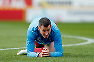 Bradford City defender Ryan McGowan (4) warming up  during the EFL Sky Bet League 1 match between Bradford City and Sunderland at the Northern Commercials Stadium, Bradford, England on 6 October 2018.