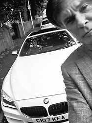 """David Hasselhoff releases a photo on Twitter with the following caption: """"""""My first selfie with the BMW @SytnerBMW it's not KITT but we got a lot of looks thanks Keith!"""""""". Photo Credit: Twitter *** No USA Distribution *** For Editorial Use Only *** Not to be Published in Books or Photo Books ***  Please note: Fees charged by the agency are for the agency's services only, and do not, nor are they intended to, convey to the user any ownership of Copyright or License in the material. The agency does not claim any ownership including but not limited to Copyright or License in the attached material. By publishing this material you expressly agree to indemnify and to hold the agency and its directors, shareholders and employees harmless from any loss, claims, damages, demands, expenses (including legal fees), or any causes of action or allegation against the agency arising out of or connected in any way with publication of the material."""