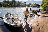 Diana Abbott '18, Fly fishing guide, Yellowstone River. Colby-Sawyer College Alumni Magazine, Internships.