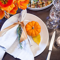 Holiday place setting at Chicago's Park Hyatt Hotel in this photograph ©2012 Wayne Cable. Chicago, Park Hyatt, Today's Chicago Woman, food, thanksgiving, photography, photographer, holiday, celebration, hotel, hospitality, luxury. table, setting