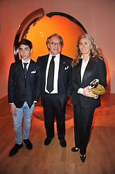 DIEGO & BARBARA DELLA VALLE he is President and CEO of the Italian leather goods company Tod's and his son FILIPPO at the TOD'S Art Plus Drama Party at the Whitechapel Gallery, London on 24th March 2011.