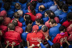 November 20, 2016 - Barcelona, Catalonia, Spain - The 'Castellers de la Vila de Gracia' gather for the base of a human tower during a 'diada castellera' at Barcelona's Gracia quarter (Credit Image: © Matthias Oesterle via ZUMA Wire)