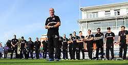 Matt Maynard, Director of cricket for Somerset adresses the crowd.  - Mandatory by-line: Alex Davidson/JMP - 23/09/2016 - CRICKET - Cooper Associates County Ground - Taunton, United Kingdom - Final Day of the Season - Specsavers County Championship Division One