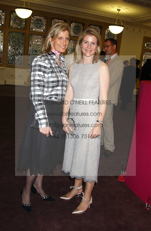 Left to right, HRH the COUNTESS OF WESSEX and VISCOUNTESS LINLEY at a charity event 'In The Pink' a night of music and fashion in aid of the Breast Cancer Haven in association with fashion designer Catherine Walker held at the Cadogan Hall, Sloane Terrace, London on 20th June 2005.<br /><br />NON EXCLUSIVE - WORLD RIGHTS
