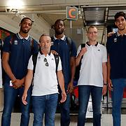 Turkish Basketball team Anadolu Efes's players seen during their Ataturk Airport in Istanbul Turkey on Tuesday 23 Augustl 2015. Photo by Kurtulus YILMAZ/TURKPIX