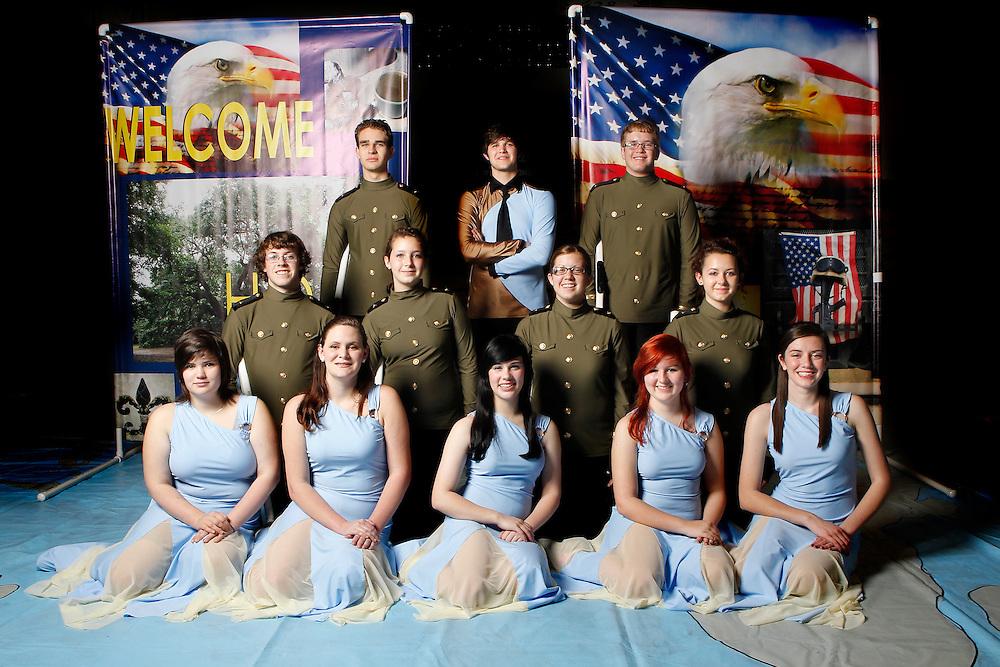 Mandeville High School Winter Guard 2012.photo by: Crystal LoGiudice