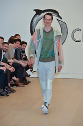 OTIS FERRY modelling at Fashions for The Future presented by Oceana's Junior Council held at Phillips Auction House, 30 Berkeley Square, London on 19th March 2015.